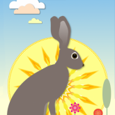 bunny card illustration