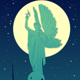 peace-statue-with-the-moon
