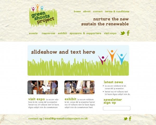Website drafts for Green Shoots