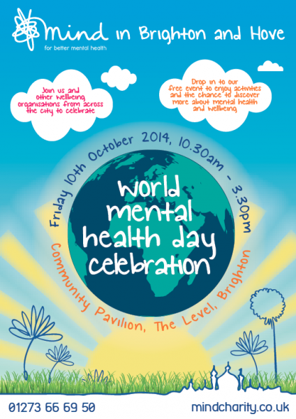 Mind - World Mental Health Day poster