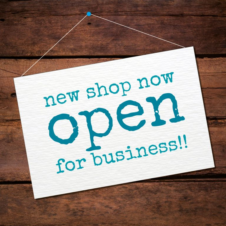 lila hunnisett illustration shop sign now open