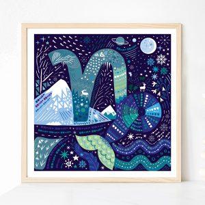 Capricorn Zodiac print by Lila Hunnisett