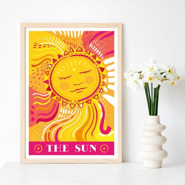 The Sparkling Sun tarot deck Sun card