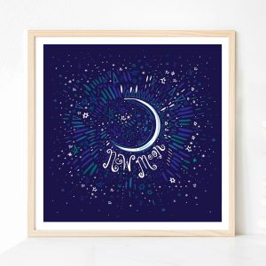 New Moon print by Lila Hunnisett
