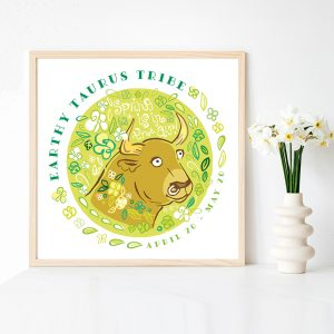 Cute Taurus Illustration